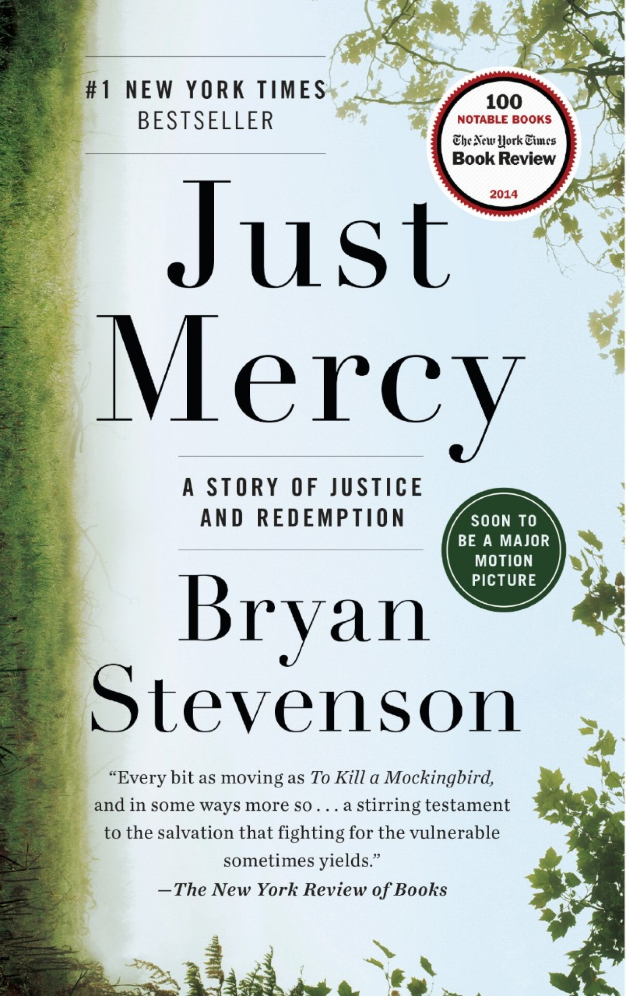 Just Mercy by Bryan Stevenson book cover, Spiegel and Grau 2014.